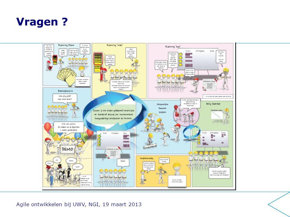 Vragen ? Agile ontwikkelen bij UWV, NGI, 19 maart 2013
