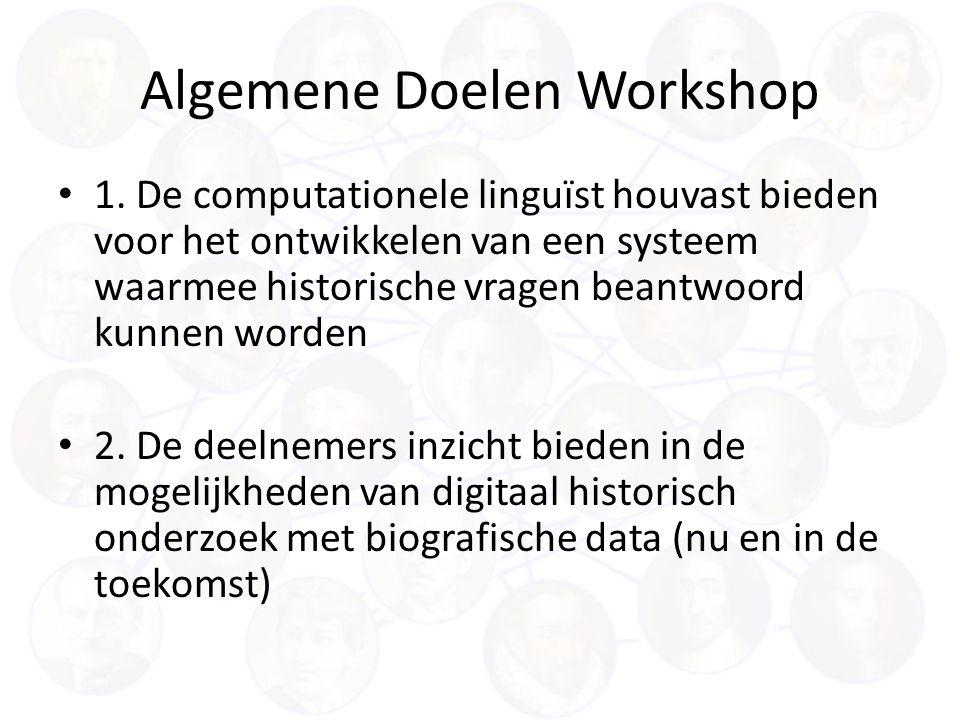 Algemene Doelen Workshop 1.