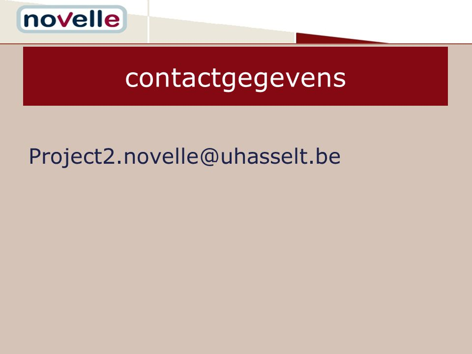 contactgegevens Project2.novelle@uhasselt.be