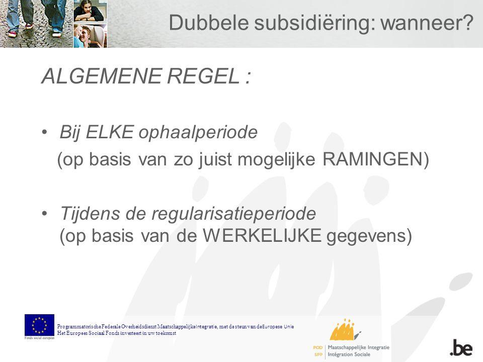 Dubbele subsidiëring: wanneer.