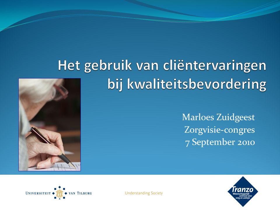 Marloes Zuidgeest Zorgvisie-congres 7 September 2010
