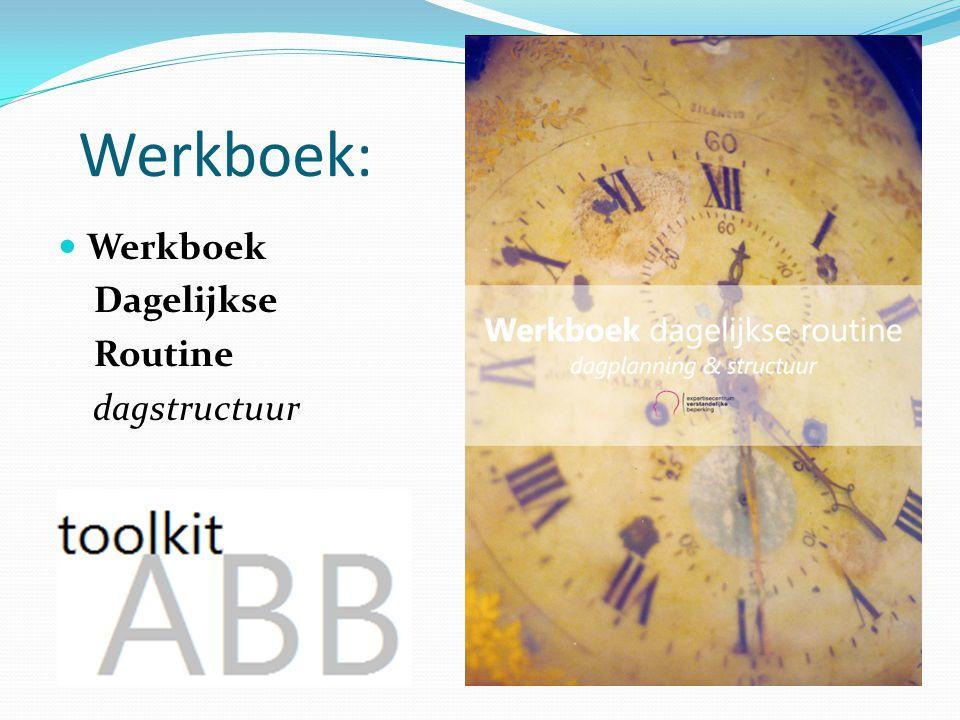 Werkboek: Werkboek Dagelijkse Routine dagstructuur