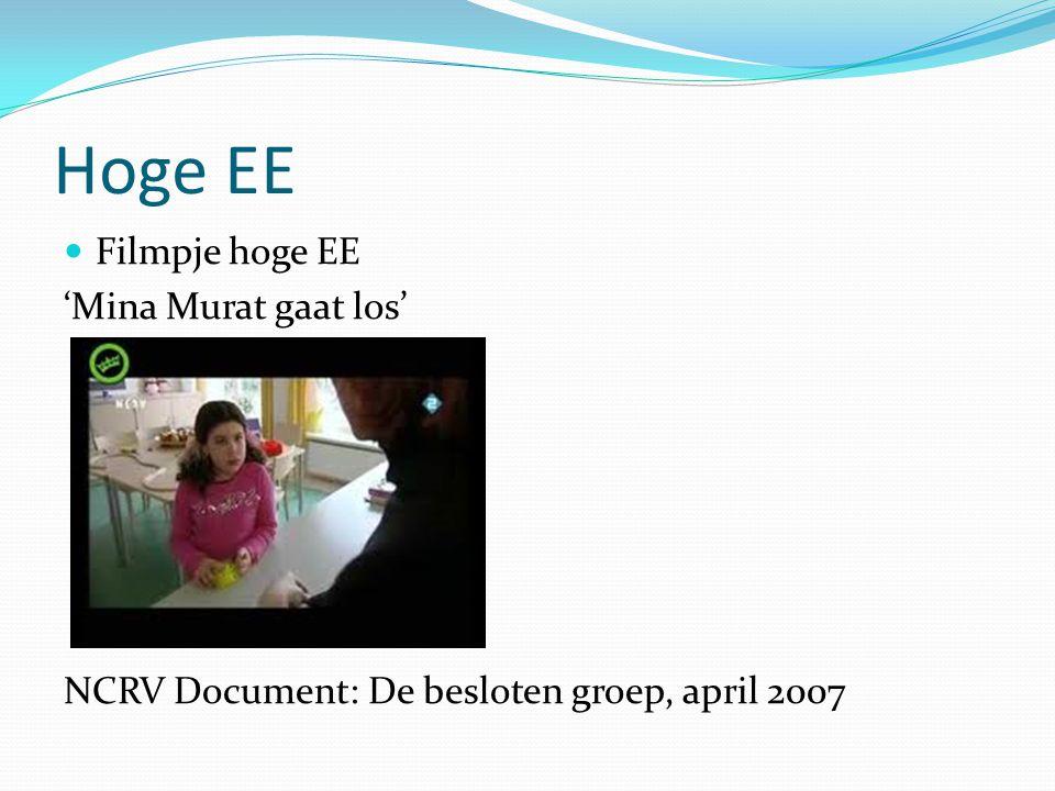 Hoge EE Filmpje hoge EE 'Mina Murat gaat los' NCRV Document: De besloten groep, april 2007