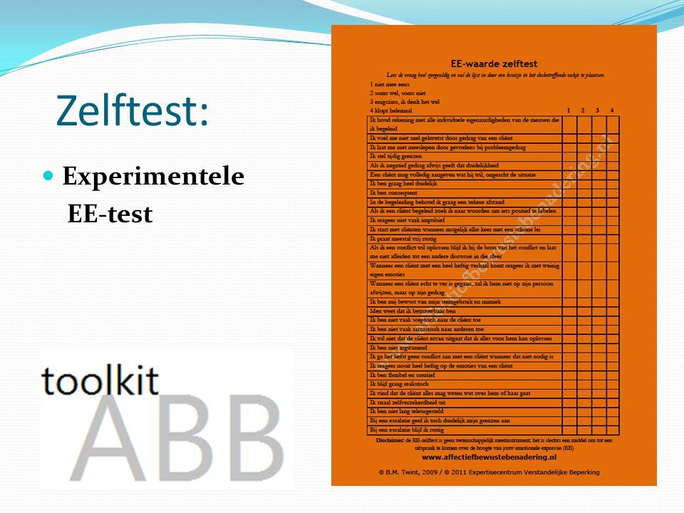 Zelftest: Experimentele EE-test