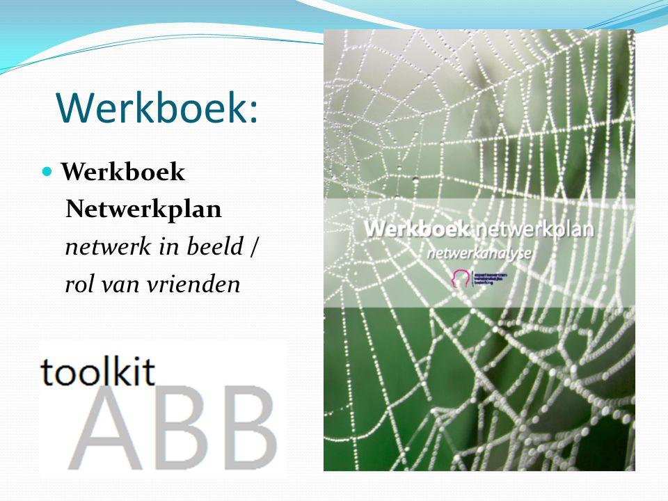 Werkboek: Werkboek Netwerkplan netwerk in beeld / rol van vrienden