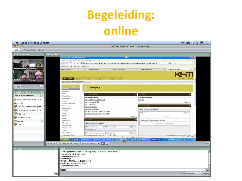 Begeleiding: online