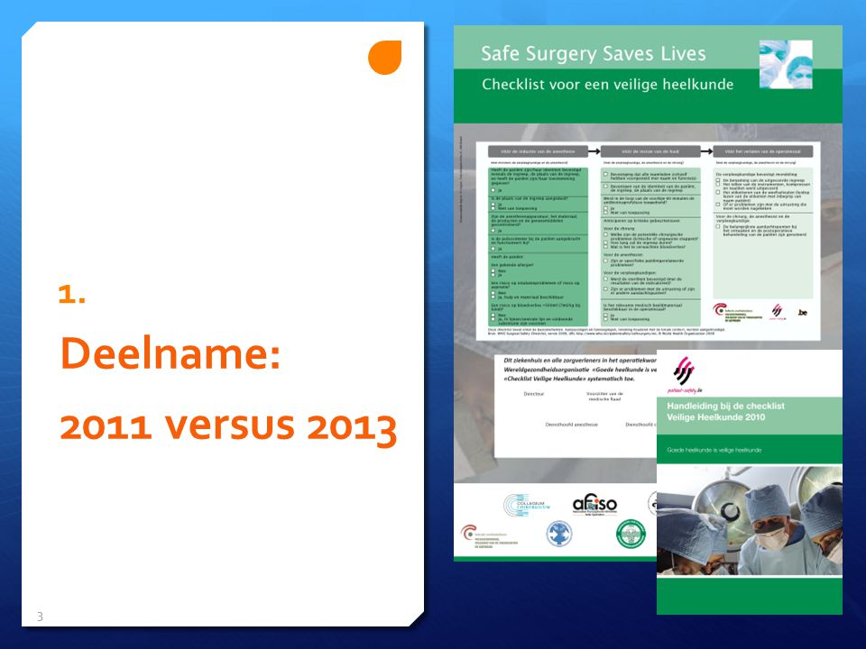 1. Deelname: 2011 versus 2013 3