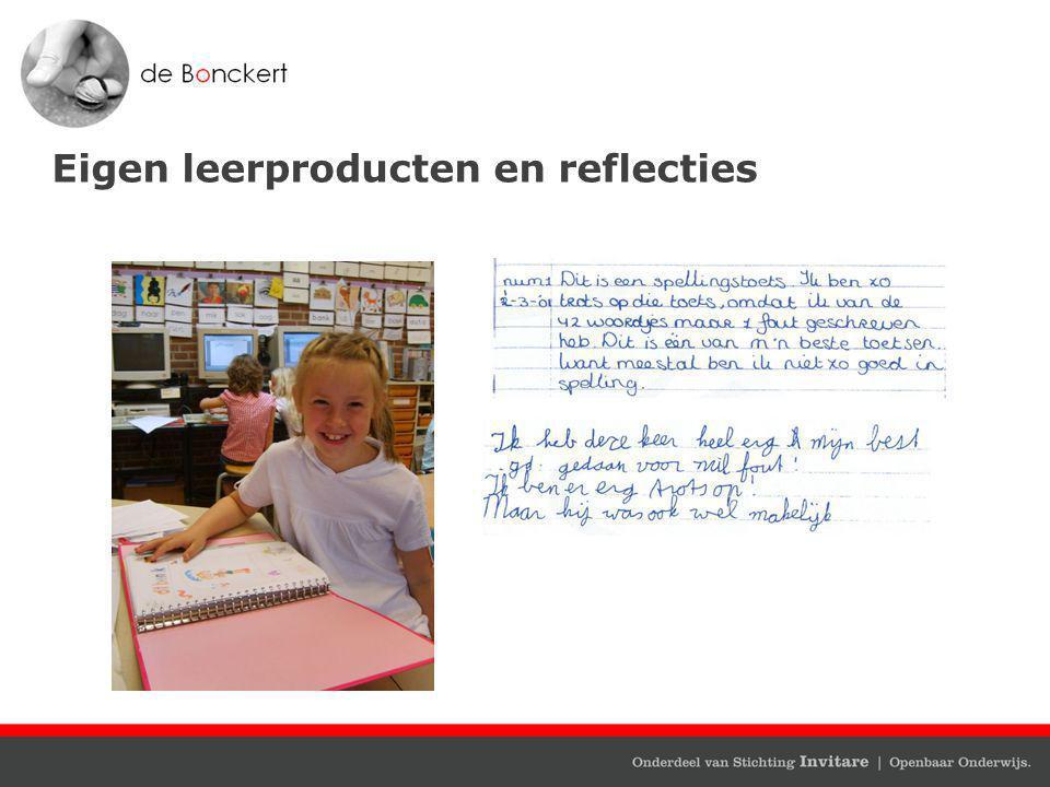 Eigen leerproducten en reflecties