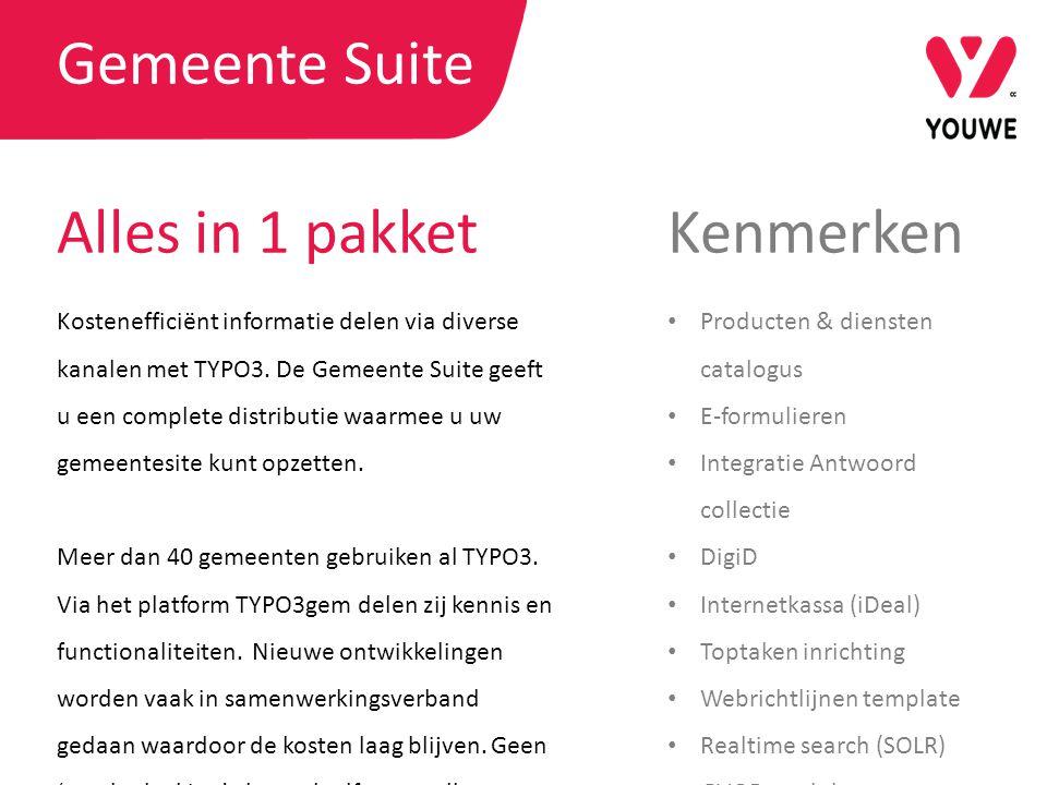 Kostenefficiënt informatie delen via diverse kanalen met TYPO3. De Gemeente Suite geeft u een complete distributie waarmee u uw gemeentesite kunt opze
