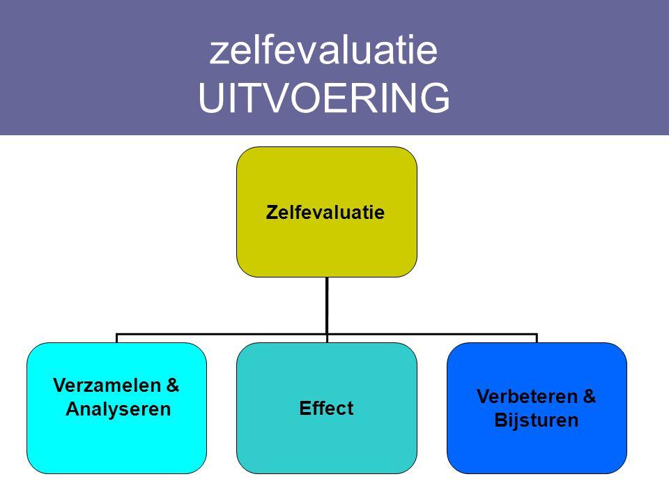 zelfevaluatie UITVOERING Zelfevaluatie Verzamelen & AnalyserenEffect Verbeteren & Bijsturen