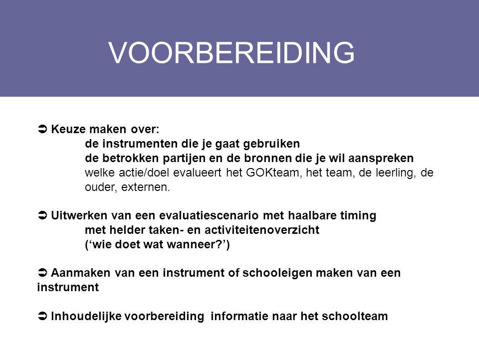 WERKMOMENTEN TEAM Layout Edwin Kindermans  Evaluatie van de concrete acties.