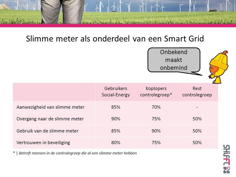 Slimme meter als onderdeel van een Smart Grid Onbekend maakt onbemind