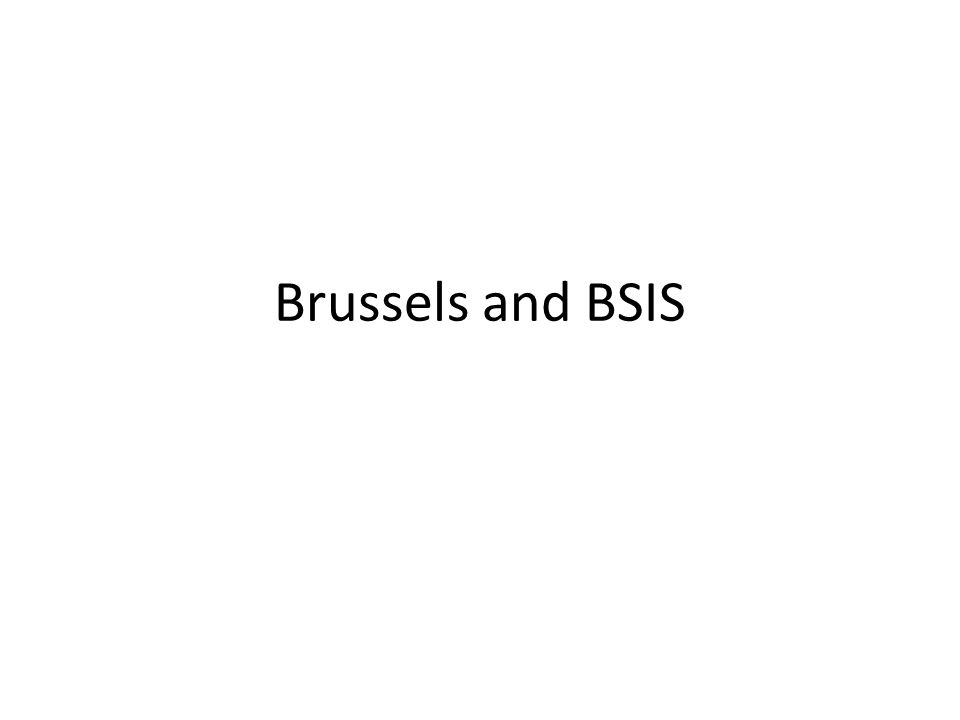 Brussels and BSIS