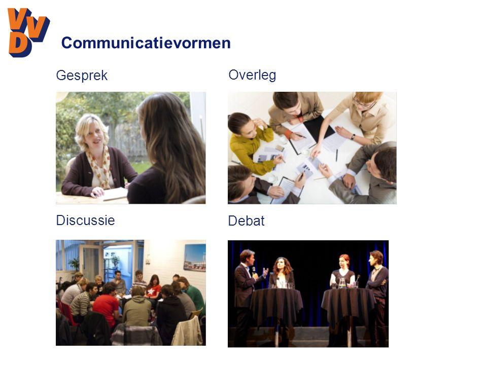 Communicatievormen Gesprek Overleg Discussie Debat