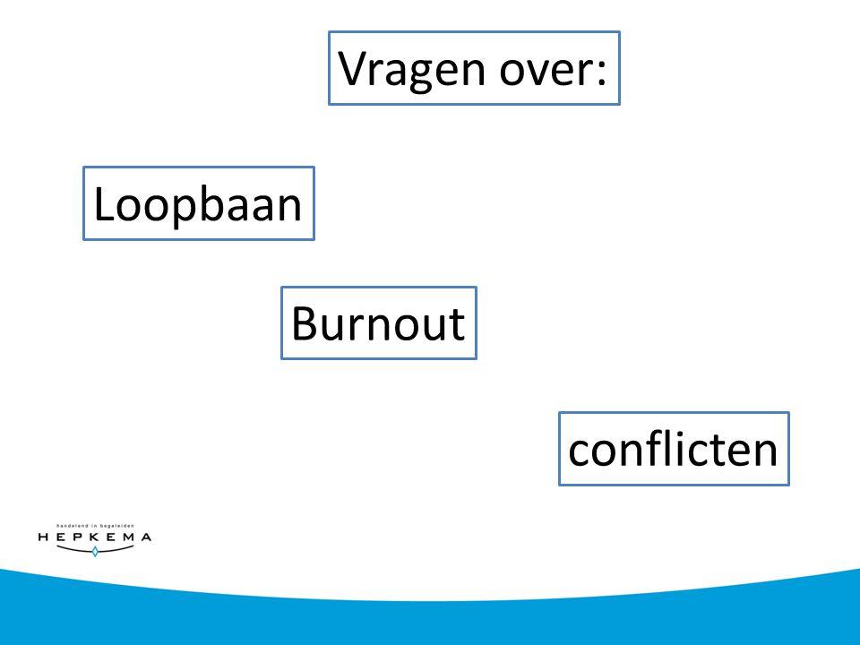 Loopbaan Burnout conflicten Vragen over: