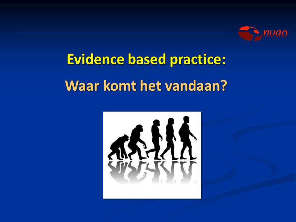 Evidence based practice: Waar komt het vandaan?