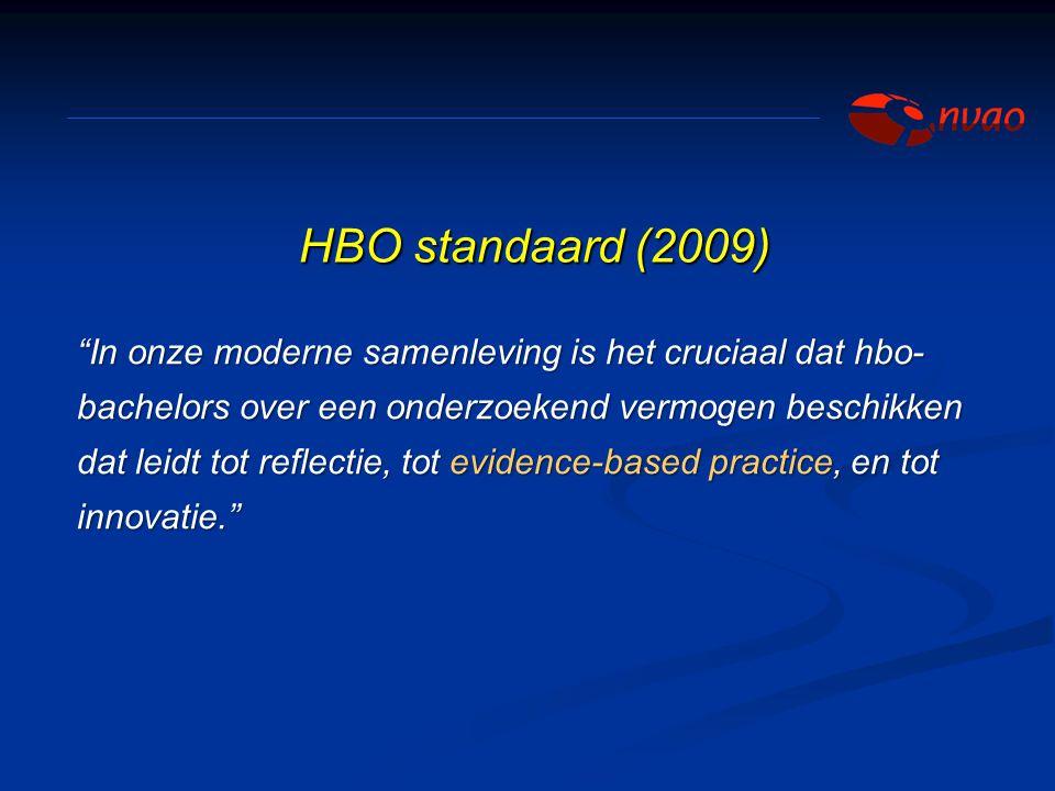 """""""In onze moderne samenleving is het cruciaal dat hbo- bachelors over een onderzoekend vermogen beschikken dat leidt tot reflectie, tot evidence-based"""