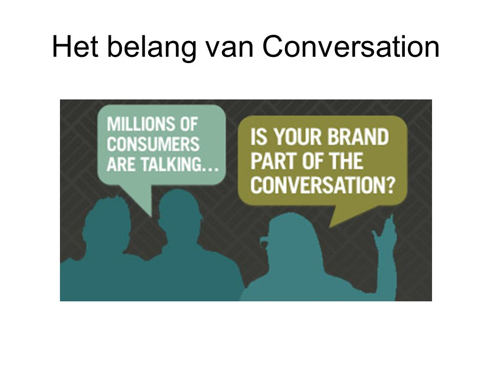Het belang van Conversation