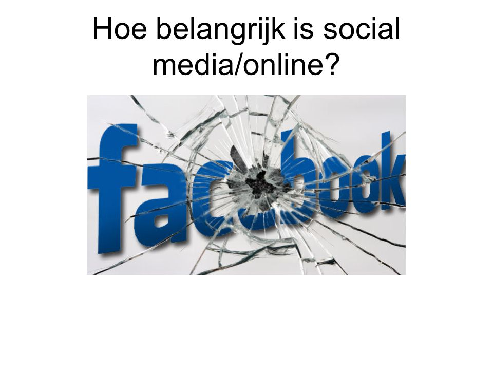 Hoe belangrijk is social media/online