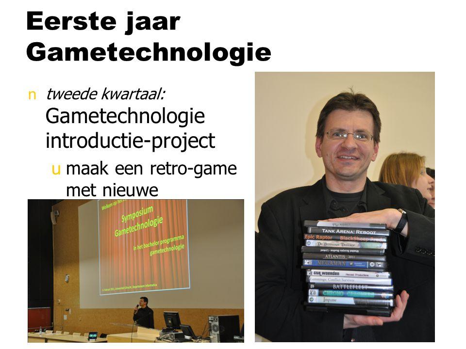 Eerste jaar Gametechnologie ntweede kwartaal: Gametechnologie introductie-project umaak een retro-game met nieuwe technologie