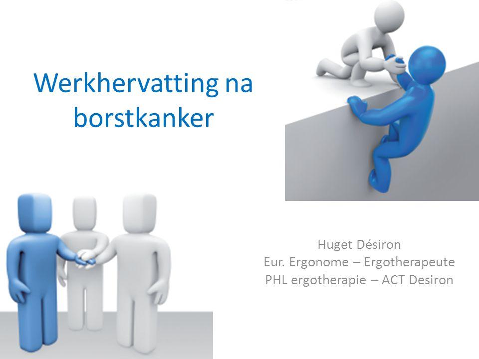 Werkhervatting na borstkanker Huget Désiron Eur. Ergonome – Ergotherapeute PHL ergotherapie – ACT Desiron