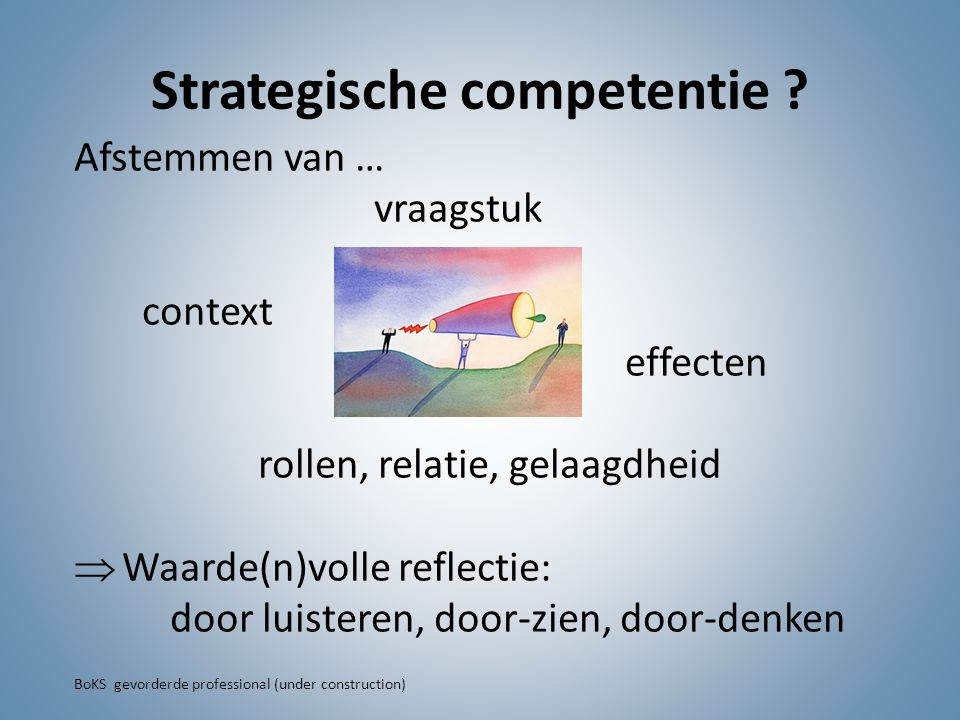 Strategische competentie .