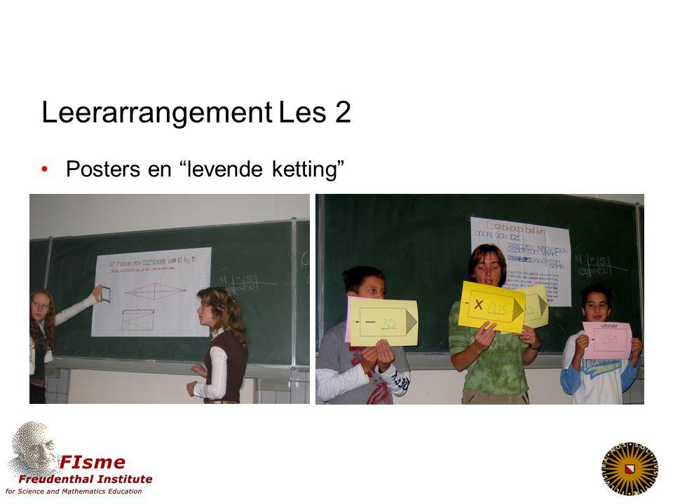 "Leerarrangement Les 2 Posters en ""levende ketting"""