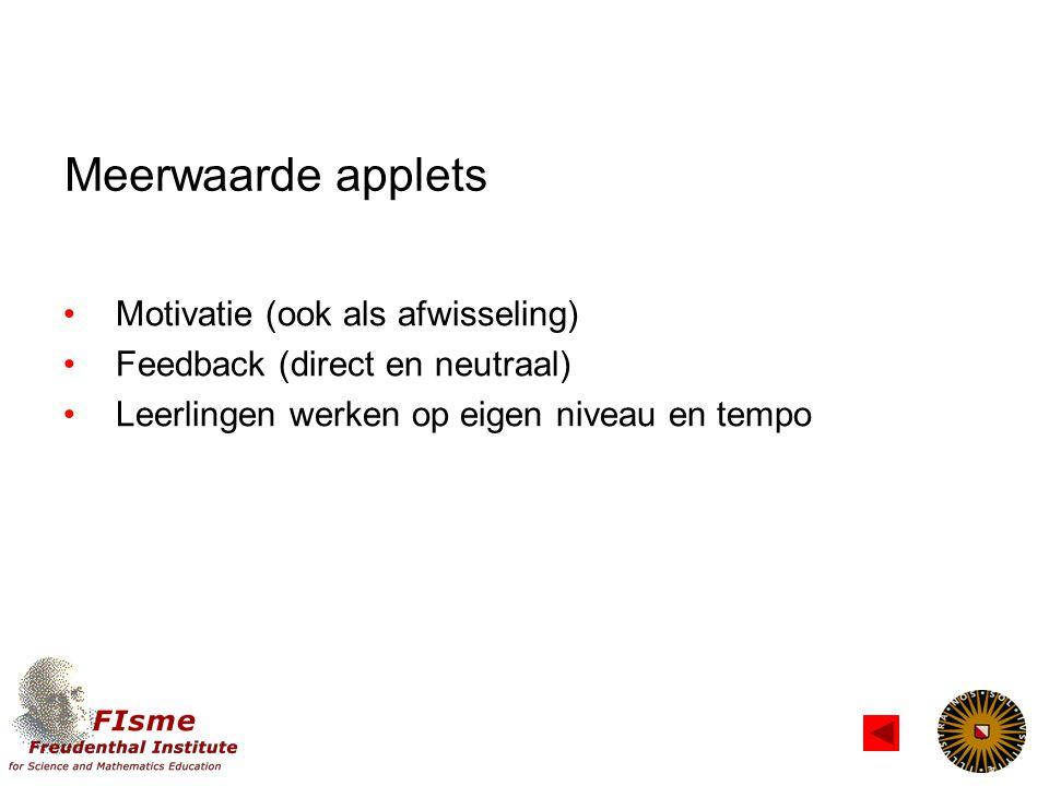 Soorten applets Open versus gesloten voorbeelden?.