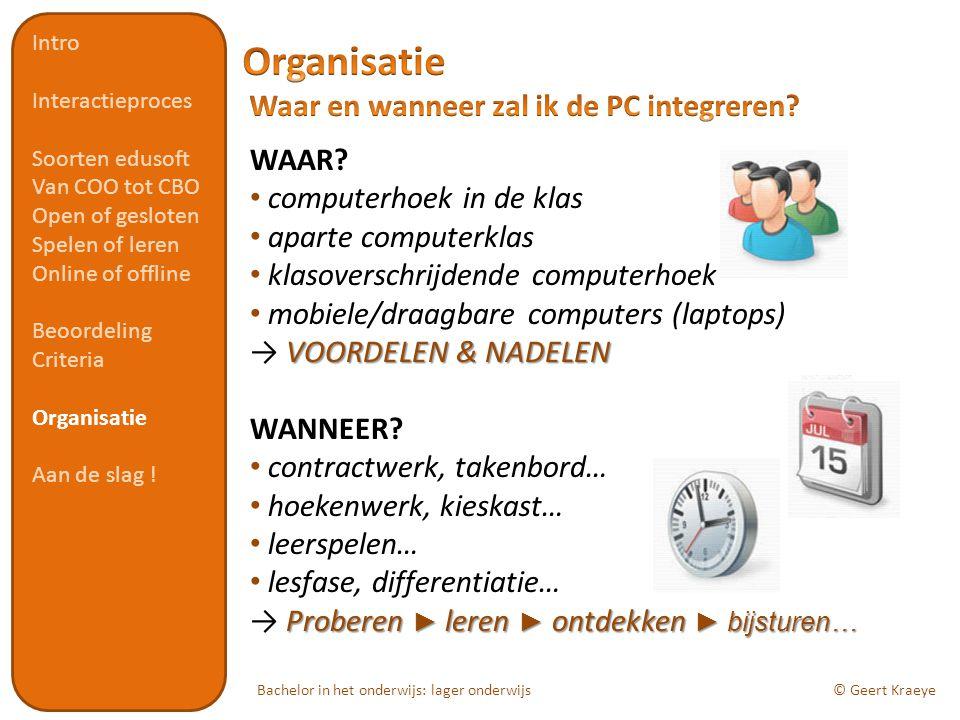 Bachelor in het onderwijs: lager onderwijs© Geert Kraeye WAAR.