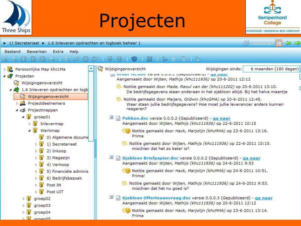 Projecten Project onderwijs Casus, Informatie, Samenwerking, Dossiervorming, Logboek