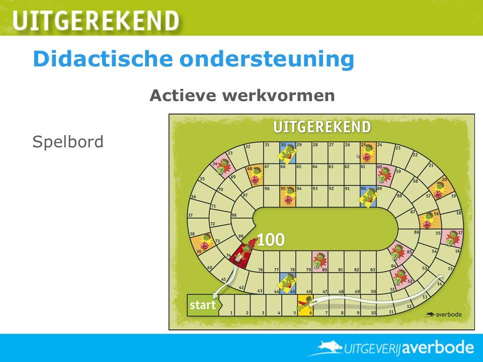 Didactische ondersteuning Actieve werkvormen Spelbord