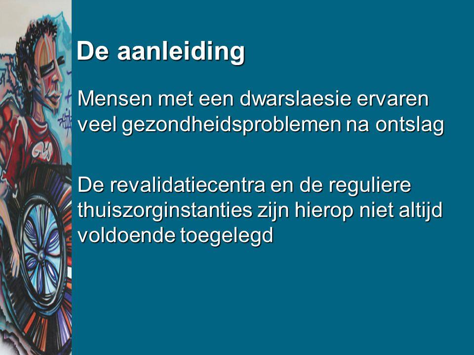 3.3 Resultaat procesevaluatie Niet alle activiteiten werden ingevoerdNiet alle activiteiten werden ingevoerd Meeste aandacht ging naar het ondersteunen van cliëntenMeeste aandacht ging naar het ondersteunen van cliënten Meeste interventies op gebied van decubitus, darm- en blaasproblemen, pijnMeeste interventies op gebied van decubitus, darm- en blaasproblemen, pijn Uitvoering was verschillend in de 2 interventiecentraUitvoering was verschillend in de 2 interventiecentra