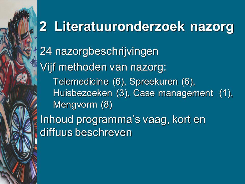 Conclusie Nazorg is nodigNazorg is nodig Nazorg moet stevig ingebed worden in het revalidatieprocesNazorg moet stevig ingebed worden in het revalidatieproces