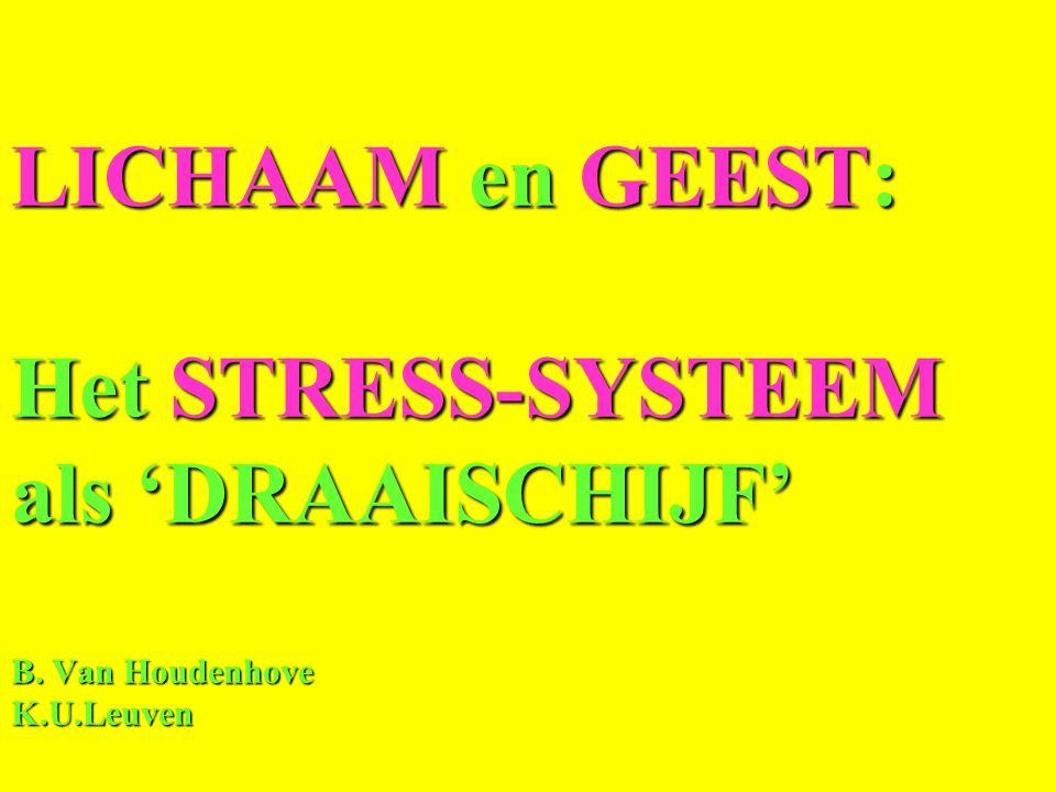 LICHAAM en GEEST: Het STRESS-SYSTEEM als 'DRAAISCHIJF' B. Van Houdenhove K.U.Leuven