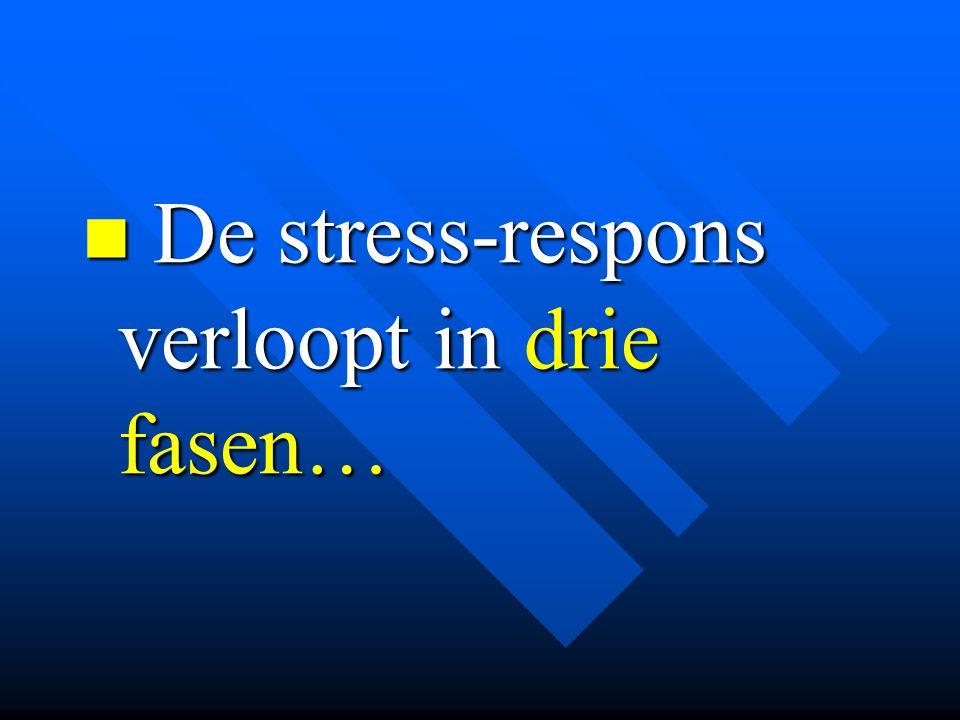 De stress-respons verloopt in drie fasen… De stress-respons verloopt in drie fasen…