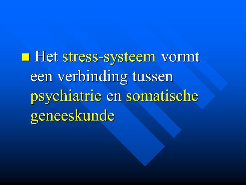 Het stress-systeem vormt een verbinding tussen psychiatrie en somatische geneeskunde Het stress-systeem vormt een verbinding tussen psychiatrie en som