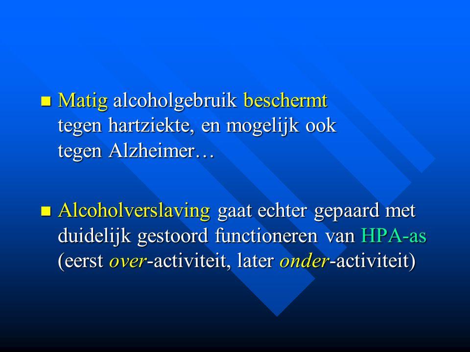 Matig alcoholgebruik beschermt tegen hartziekte, en mogelijk ook tegen Alzheimer… Matig alcoholgebruik beschermt tegen hartziekte, en mogelijk ook teg