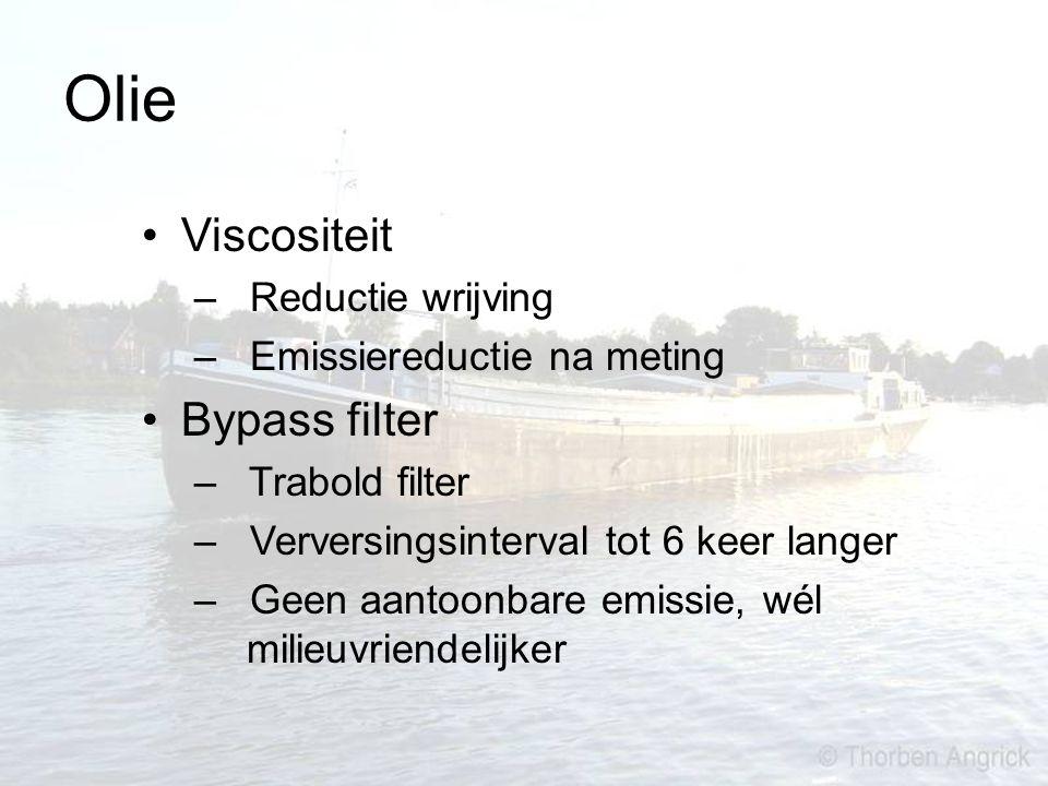 Olie Viscositeit – Reductie wrijving – Emissiereductie na meting Bypass filter – Trabold filter – Verversingsinterval tot 6 keer langer – Geen aantoon