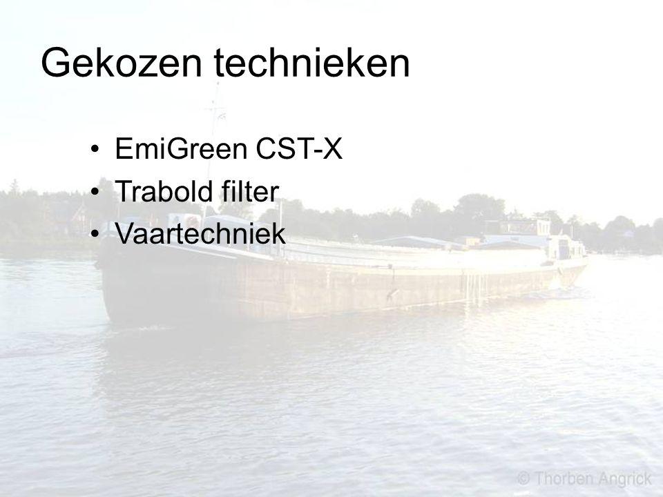 Gekozen technieken EmiGreen CST-X Trabold filter Vaartechniek