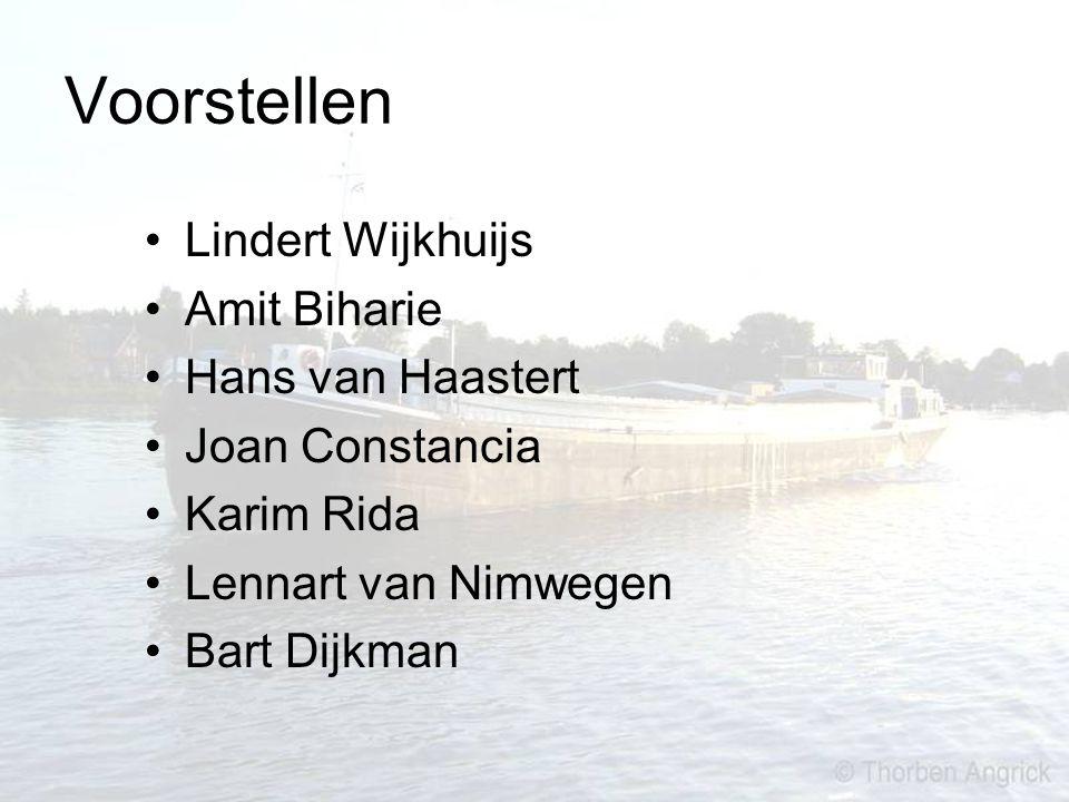 Voorstellen Lindert Wijkhuijs Amit Biharie Hans van Haastert Joan Constancia Karim Rida Lennart van Nimwegen Bart Dijkman