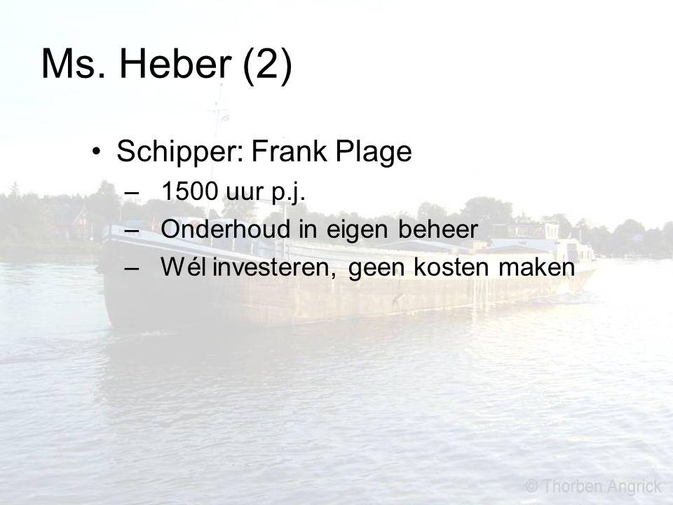 Ms. Heber (2) Schipper: Frank Plage – 1500 uur p.j. – Onderhoud in eigen beheer – Wél investeren, geen kosten maken