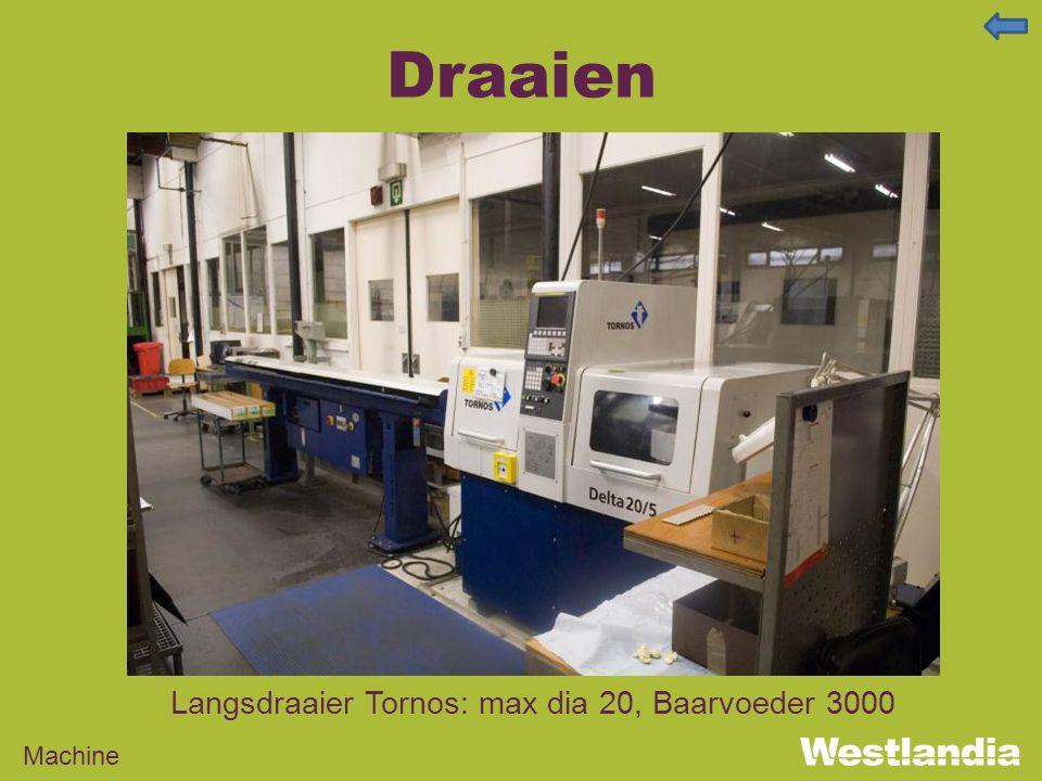 Draaien Machine Langsdraaier Tornos: max dia 20, Baarvoeder 3000