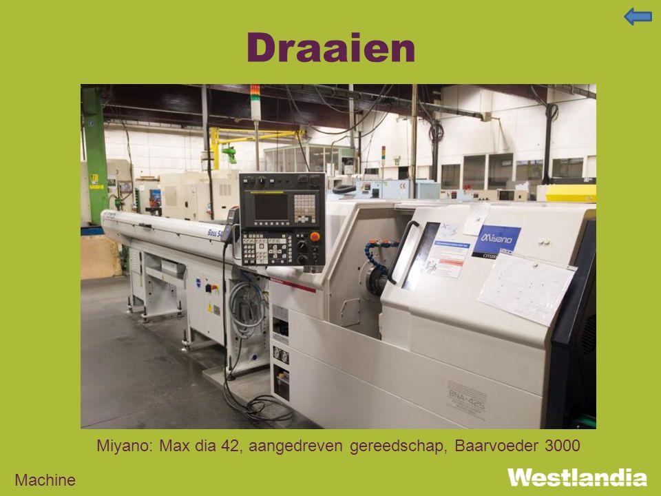 Draaien Machine Miyano: Max dia 42, aangedreven gereedschap, Baarvoeder 3000