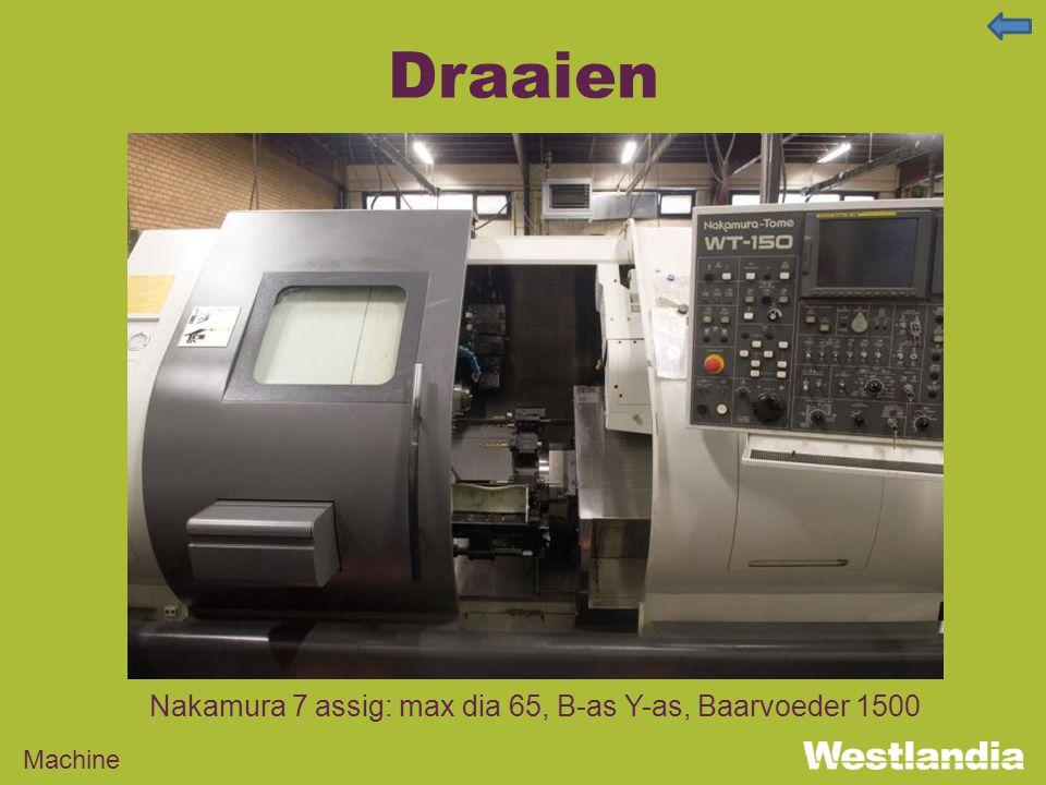Draaien Machine Nakamura 7 assig: max dia 65, B-as Y-as, Baarvoeder 1500