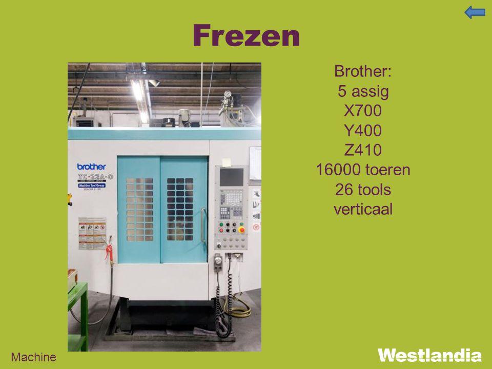 Frezen Machine Brother: 5 assig X700 Y400 Z410 16000 toeren 26 tools verticaal