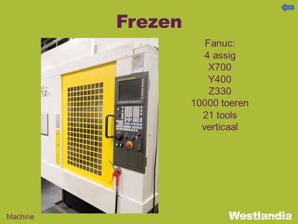 Frezen Machine Fanuc: 4 assig X700 Y400 Z330 10000 toeren 21 tools verticaal