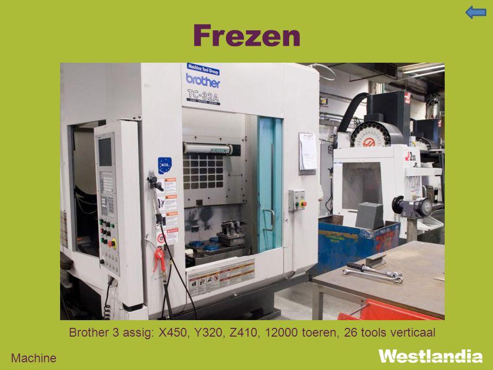 Frezen Machine Brother 3 assig: X450, Y320, Z410, 12000 toeren, 26 tools verticaal
