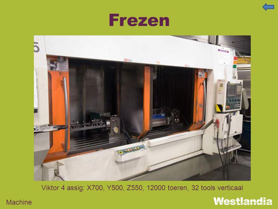 Frezen Machine Viktor 4 assig: X700, Y500, Z550, 12000 toeren, 32 tools verticaal