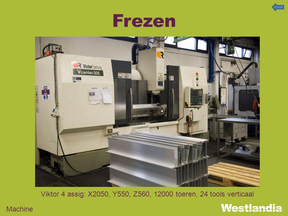 Frezen Machine Viktor 4 assig: X2050, Y550, Z560, 12000 toeren, 24 tools verticaal