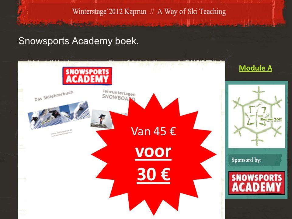 Snowsports Academy boek. Van 45 € voor 30 €